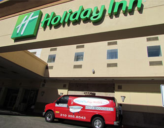 Pronto Refinish works with the Holiday Inn